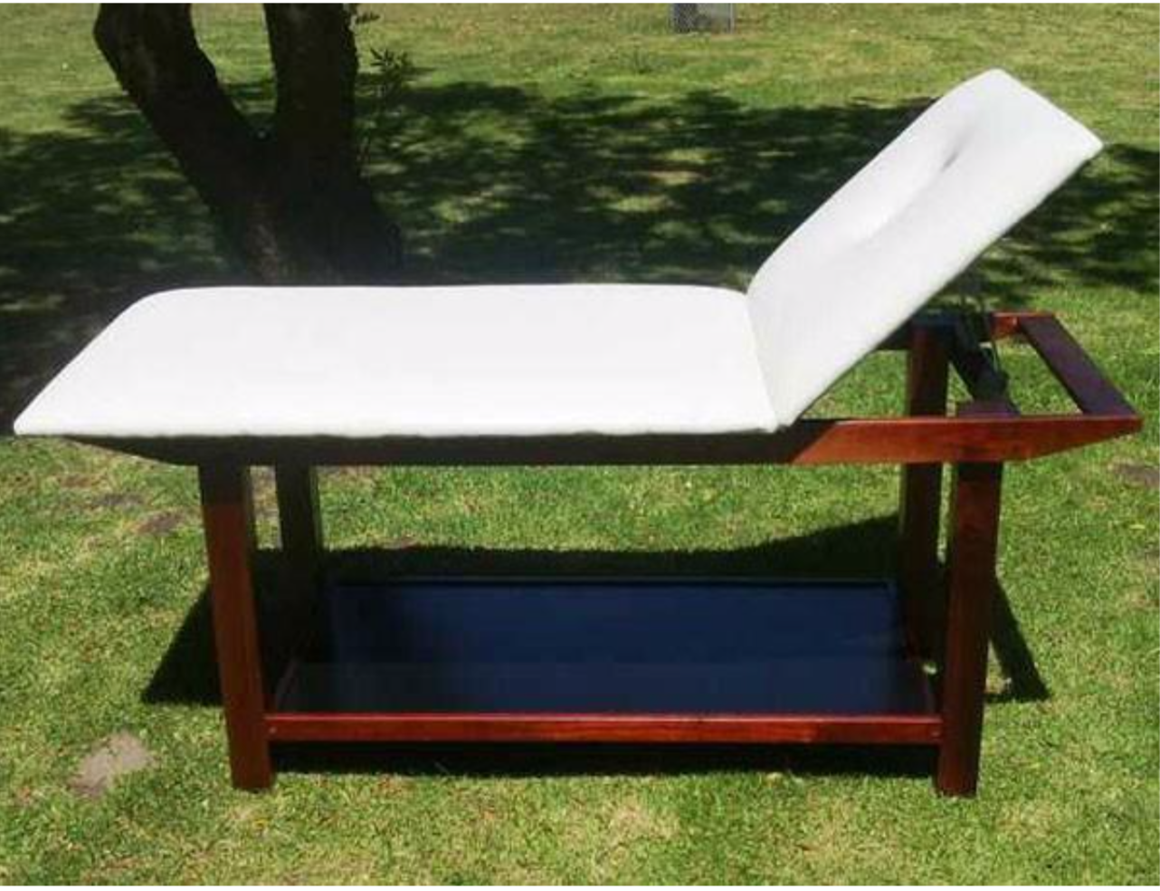 mahogony-wooden-framed-massage-table